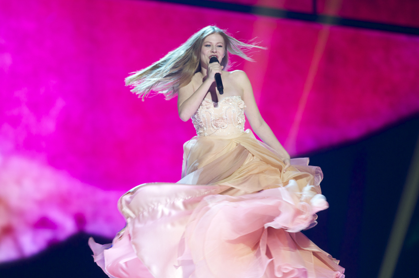 Zoe from Austria. What a dress!