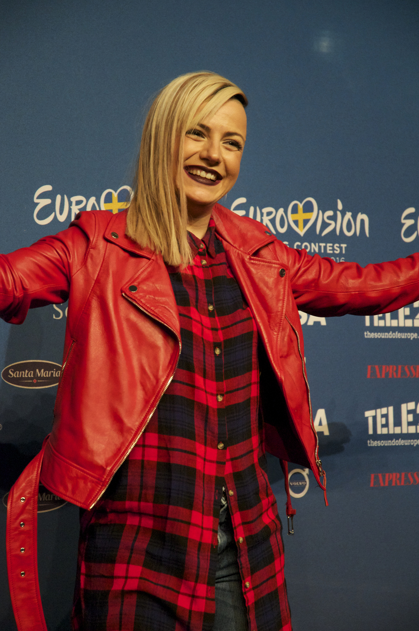Poli from Bulgaria looking radiant in red