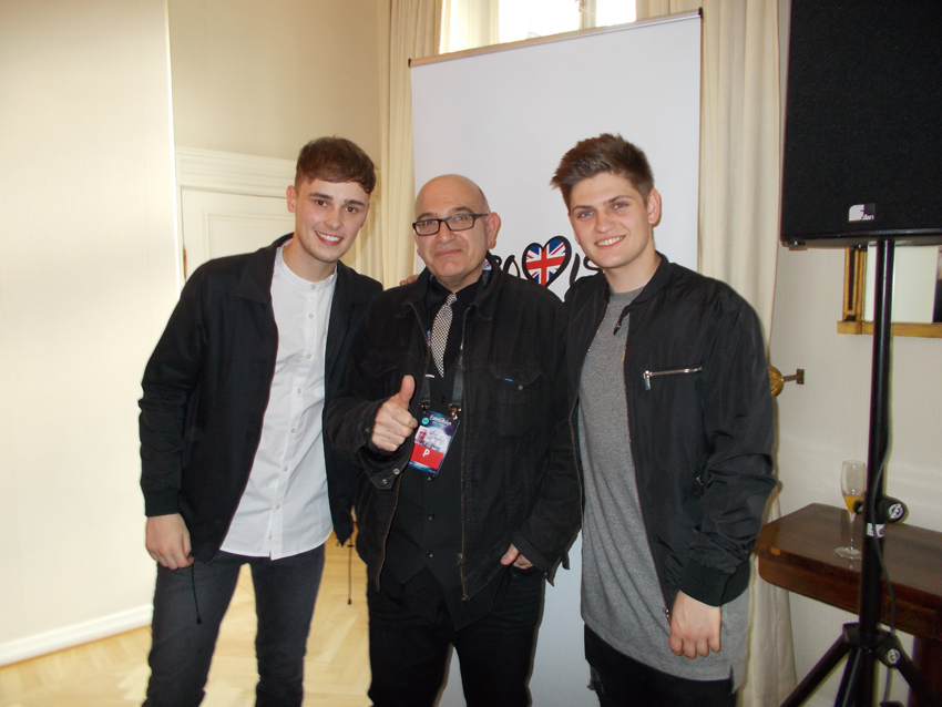 Joe & Jake with their favourite fan, Hass Yusuf...