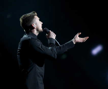 RUSSIA: Sergey Lazarev sings You Are The Only One Image copyright © David Ransted