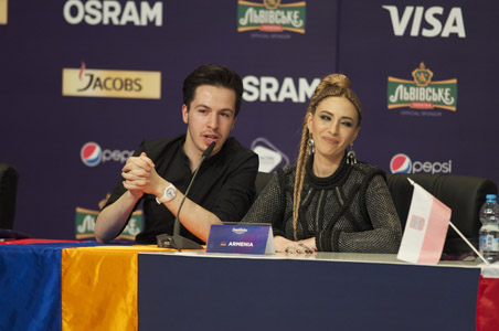 Armenia at the winner's press conference