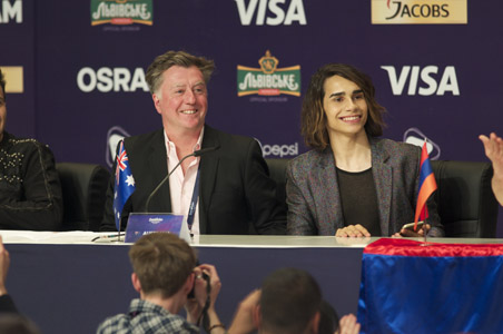 Australia at the winners press conference