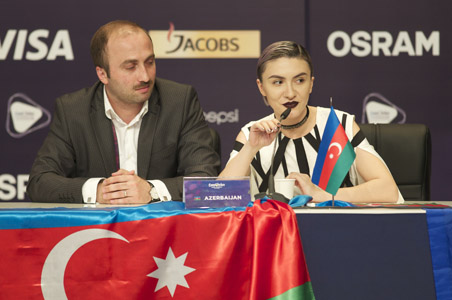 Azerbaijan at the winners press conference