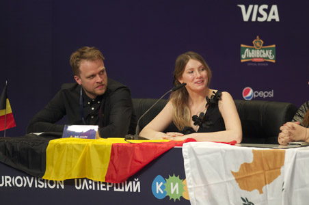 Belgium at the winners press conference