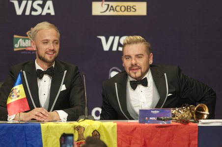Moldova at the winners press conference