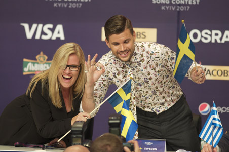 Sweden at the winners press conference
